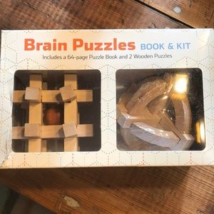 Brain puzzle book and kit